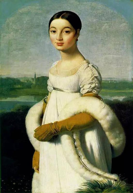 《里维埃尔小姐》,油画,100x70cm,1805
