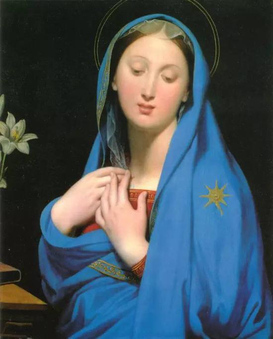 《百合圣母》,布面油画,56.8x69.5cm,1858