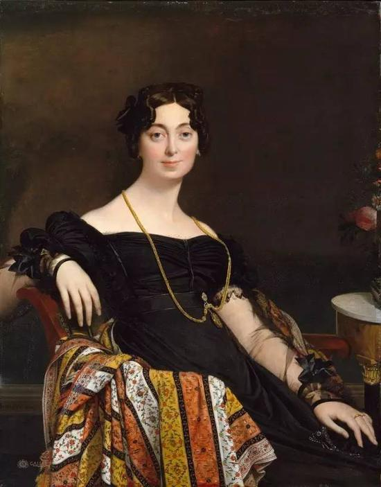 《法克-路易·勒布朗夫人》,布面油画,119.4 x 92.7 cm,1823