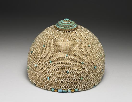 嵌松石珍珠帽