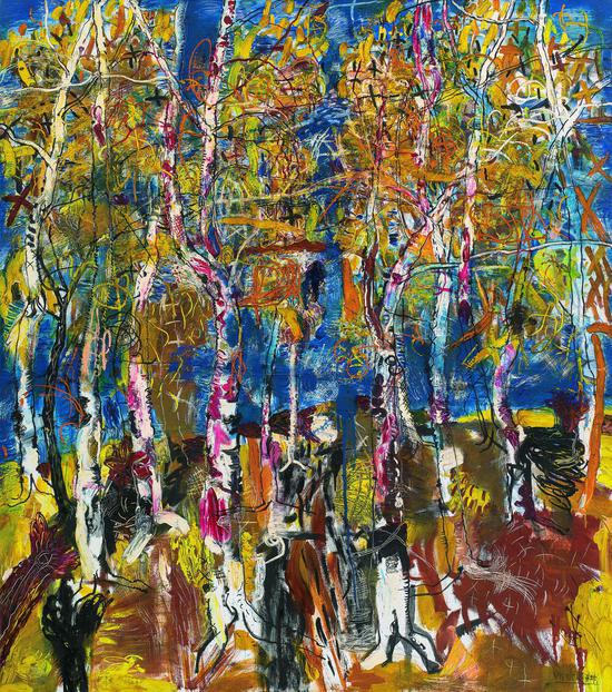 十月金秋 赵开坤 1999年 布面油画 160×180cm