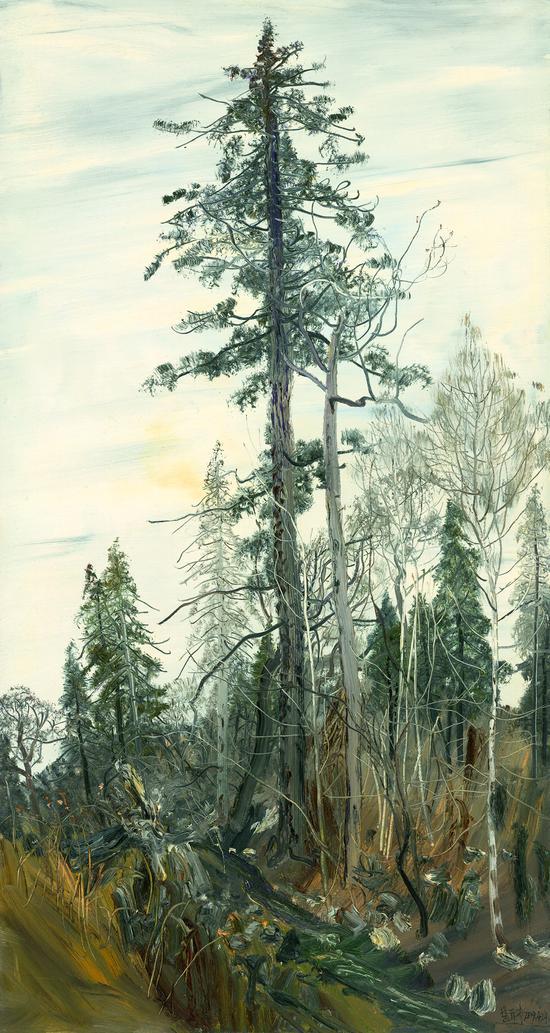 长白老林 赵开坤 2009年 布面油画 80×150cm