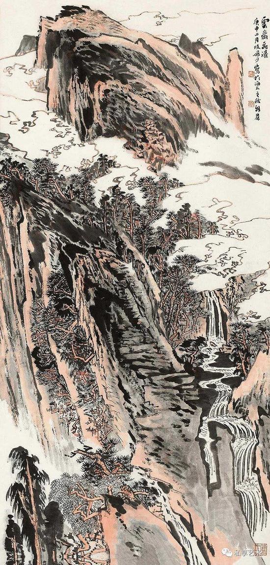 云岩飞瀑 1980作