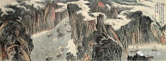峡江险水图