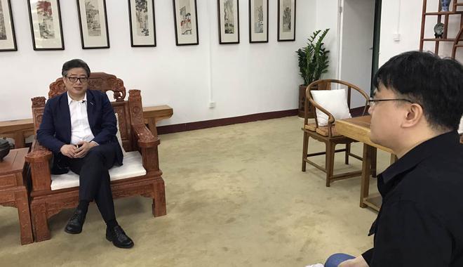 新浪文交所频道专访深圳文交所负责人于德江