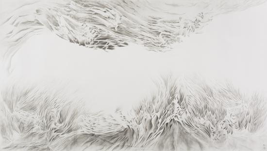 《松·云门三问》 145x253cm 纸本水墨 2016
