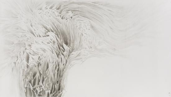 《松·水木清华》 144.5x257cm 纸本水墨 2016