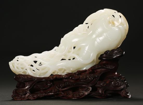 李剑 中国玉石雕刻大师 和田玉人生如意摆件 《斯文在兹》苏州玉雕名家作品联展作品