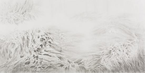 《松·曲涧云峦》 144.5×285.5cm 纸本水墨 2016