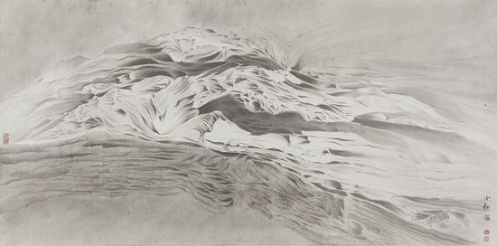 《松·片云生》 139x69cm 纸本水墨 2016