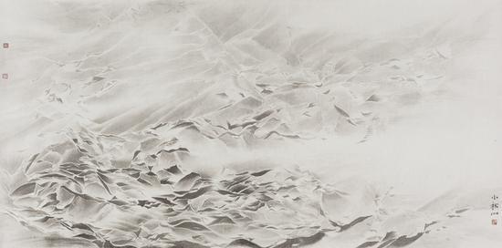 《松·清谧境》 69×139cm 纸本水墨 2016