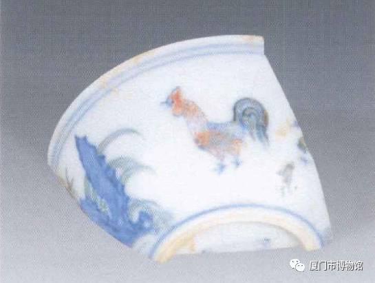 景德镇出土成化斗彩鸡缸杯瓷片