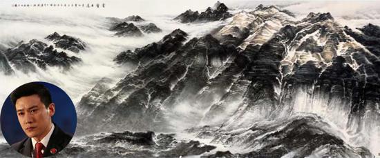 许钦松的《云壑古道》