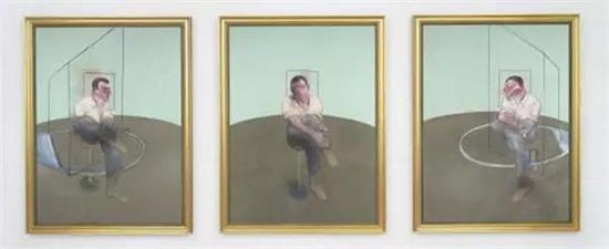 弗朗西斯·培根创作的三联画《约翰·爱德华兹肖像习作》