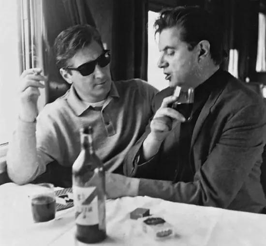 乔治·戴尔(左)与弗朗西斯·培根