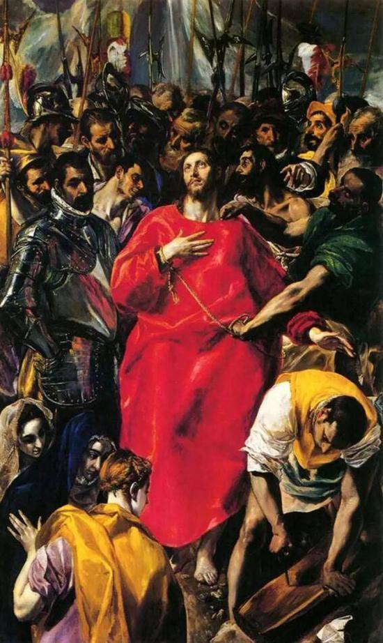 《基督被剥去圣衣》,格列柯