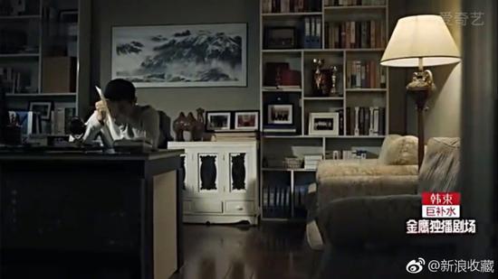 侯亮平书房的背景墙上挂着许钦松的《云壑古道》