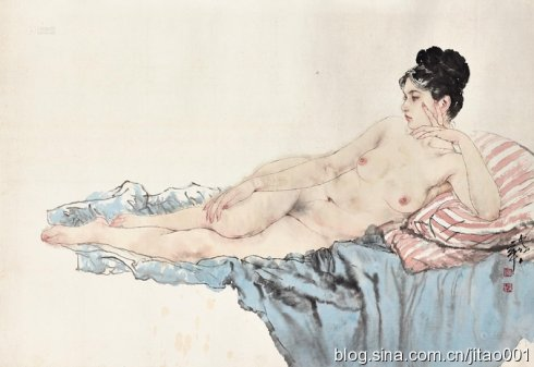 《裸女》95.4×130cm,香港佳士得2014春拍364万港元成交
