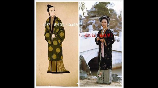 王夫人服装设计手稿与剧照