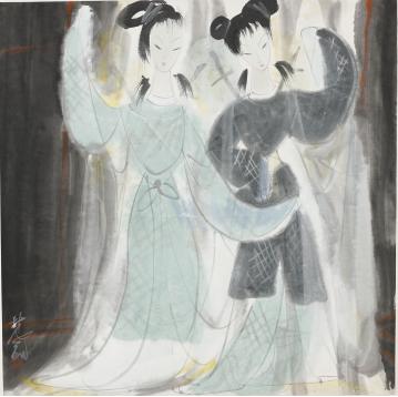 2017西泠春拍 林风眠 《双美图》 林氏旧藏,曾两次被其亲自选为个展作品,多次海外出版