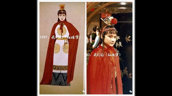 贾宝玉服装设计手稿与剧照