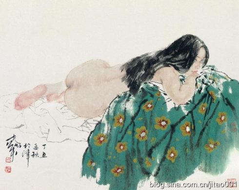 《裸女》67×85cm,香港佳士得1998春拍估价4-6万港元