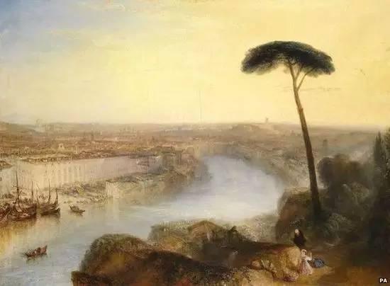 《从阿文提诺山看罗马》(Rome,from Mount Aventine) 1835年作,油彩画布