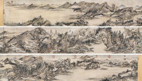 钱维城 富春秋色图 手卷 设色纸本? 36.5×562.5 cm