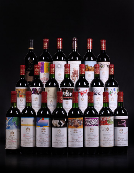 CHATEAU MOUTON ROTHSCHILD VERTICAL COLLECTION  木桐垂直年份组合图