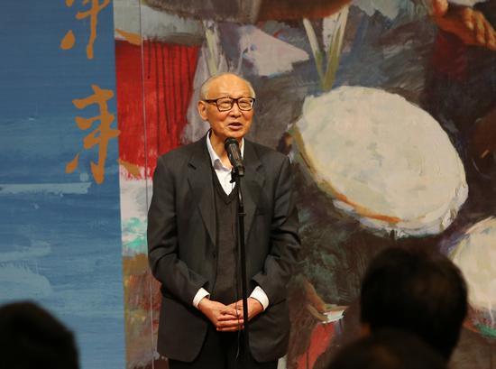 中央美术学院教授、博士生导师邵大箴在开幕式上致辞