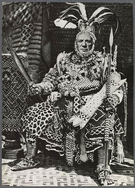 Jean Harold的合成摄影作品,谷克多将其寄给毕加索,并在照片背面命名《毕加索-黑色时期》。 图片来源:ADAGP