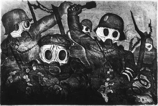表现派画家,Otto Dix - La Guerre