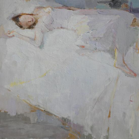 《银色的梦》布面油画 140x140cm 赵辉 2009