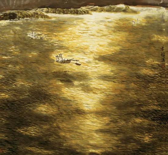 《扬子江的黄昏》100×100cm 2006年