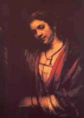 凭窗的亨德丽娅 伦勃郎 荷兰 布面油画 1656年 88.5×67cm 柏林国家博物馆藏