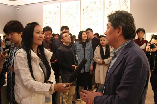 中国艺术研究院副院长谭平接受媒体采访