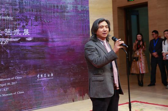 开幕式上中国美术馆馆长吴为山先生发表致辞