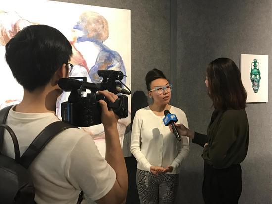 艺术家张黛妮作品现场
