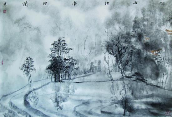 《烟雨江南》 68×103cm  2005年