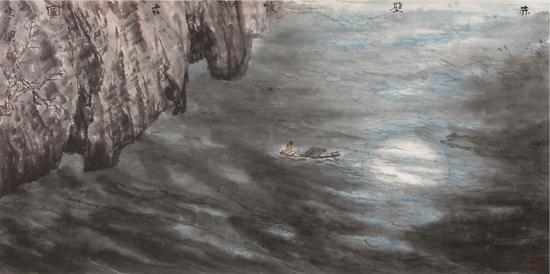 《赤壁怀古》 68×138cm  2011年