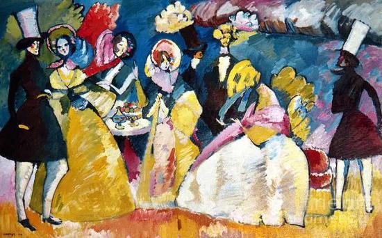Kandinsky: Crinoline, 1909