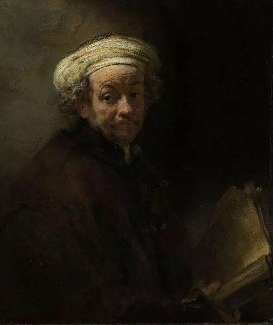 1661年扮圣保罗的自画像 伦勃郎 1661年 91x77cmcm 阿姆斯特丹国立博物馆