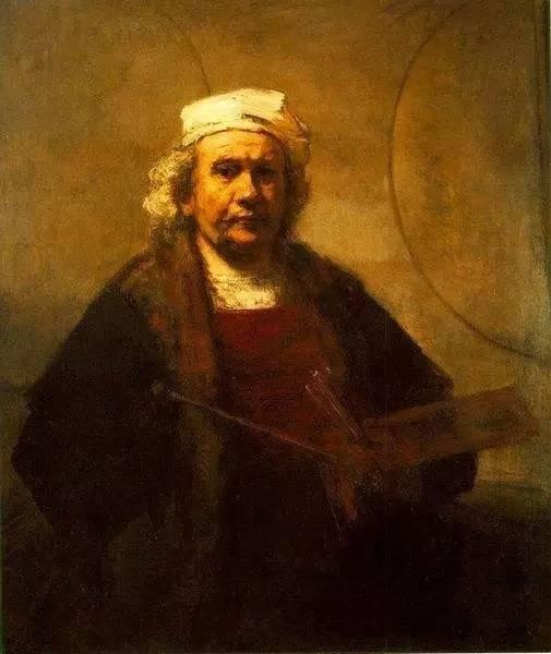 1665年自画像 伦勃郎 布面油画 1640年 94x114cm 英国伦敦国家美术馆
