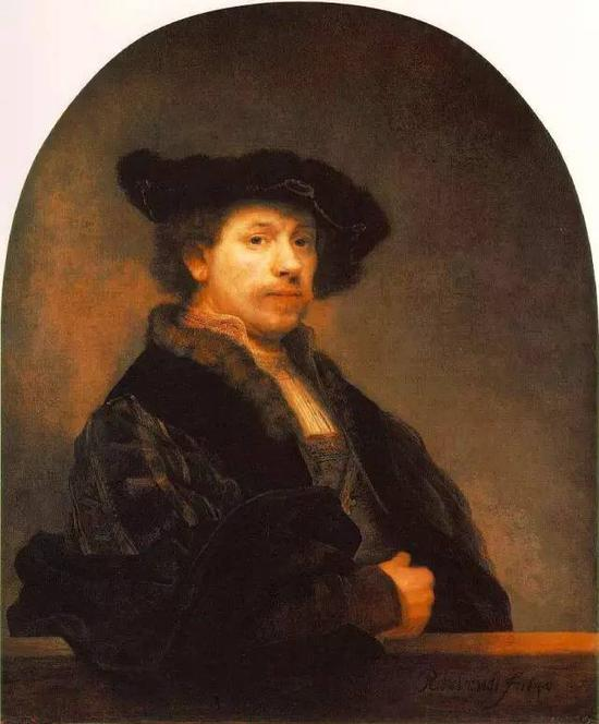 1640年自画像 伦勃郎 布面油画 1640年 80x102cm 英国伦敦国立美术馆