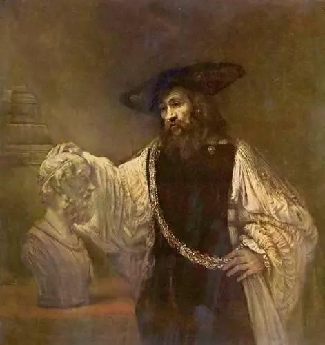 亚里士多德对荷马的头作冥想 伦勃郎 油画 1653年 144×137厘米 存于纽约大都会博物馆