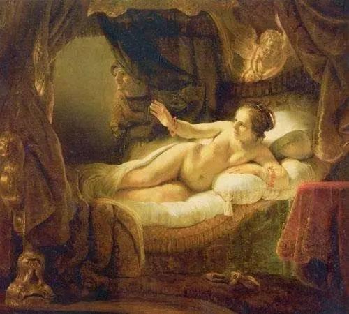 达那厄 伦勃朗 荷兰 1636年 油彩画布 185x202.5cm 圣彼得堡艾尔米塔什博物馆藏