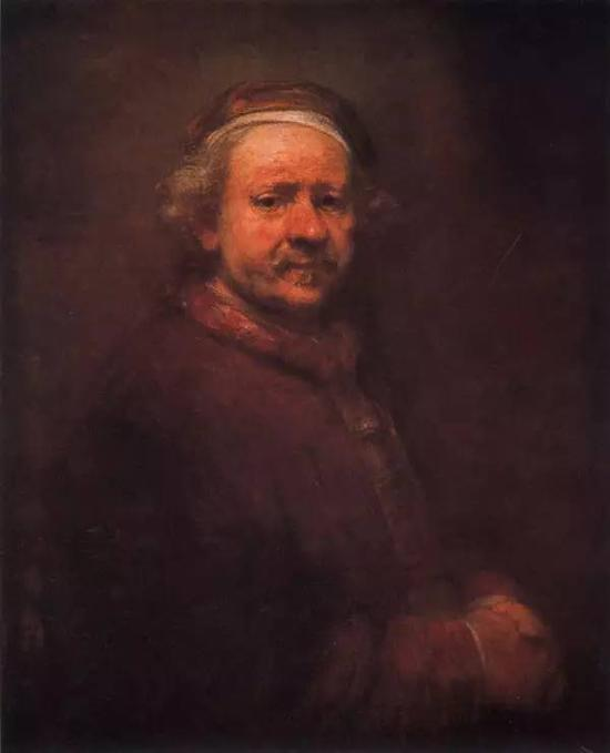 1669年自画像 伦勃郎 布面油画 1669年 70.5x86cm 英国伦敦国家美术馆