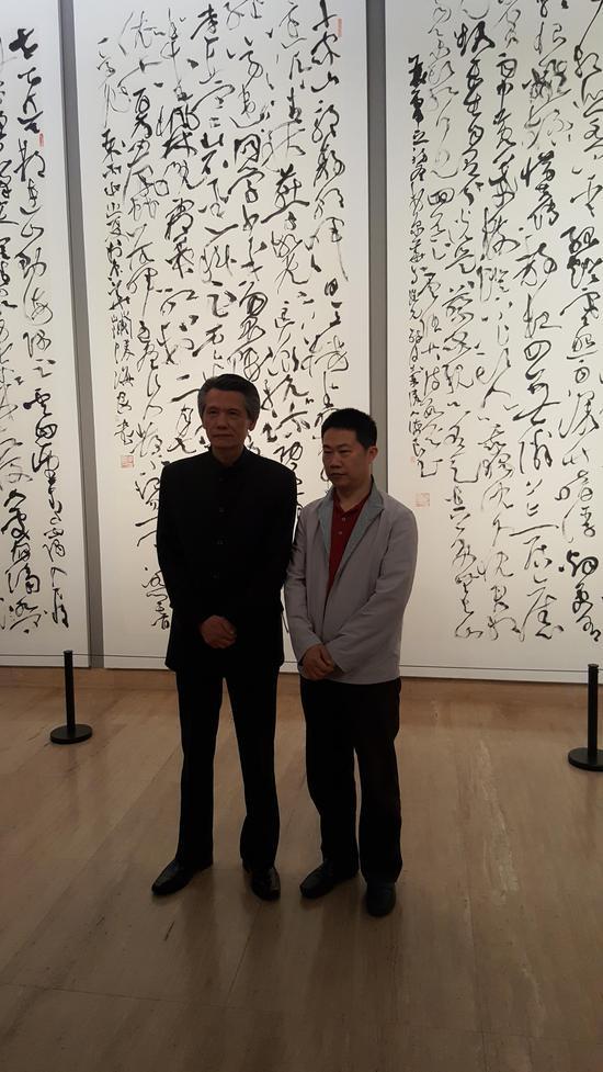 中国书法家协会副主席刘洪彪参观陈海良书法展