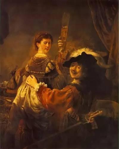 伦勃朗与他的妻子莎士基亚