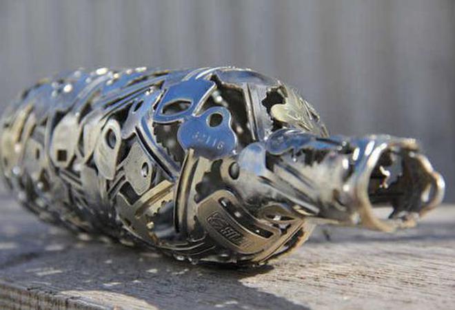 废弃的钥匙还能做成艺术品